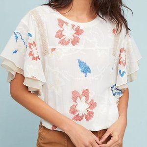 Anthro TINY Margarite Drawstring Floral Top
